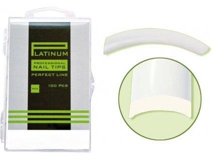 Platinum Nail tips PERFECT FLEX - móng tip đàn hồi, nhựa ABS mỏng  - NATURAL mix 110c