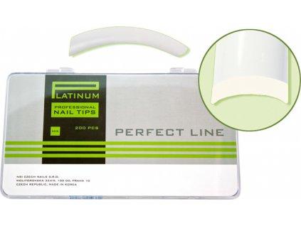 Platinum Nail tips PERFECT FLEX - móng tip đàn hồi, nhựa ABS mỏng  - NATURAL mix 220c