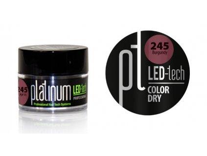 Platinum PLATINUM LED-tech COLOR DRY Burgundy (245), 9g