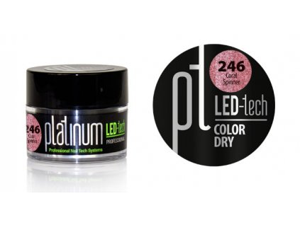 Platinum PLATINUM LED-tech COLOR DRY Coral Spinner (246), 9g
