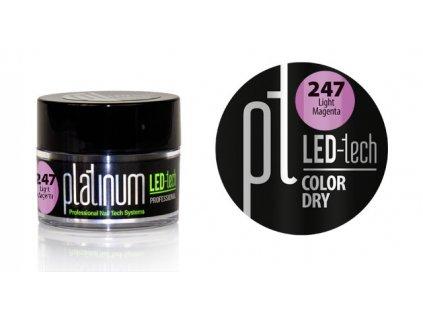 Platinum PLATINUM LED-tech COLOR DRY Light Magenta (247), 9g