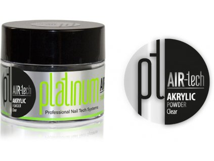 Platinum PLATINUM AIR-tech ACRYLIC Clear, 50ml/35g - bột acrylic không màu