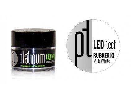 Platinum PLATINUM LED-tech RUBBER IQ Milk White, 9g - Gel rất đàn hồi màu hồng phấn (30 giây LED/120 gi