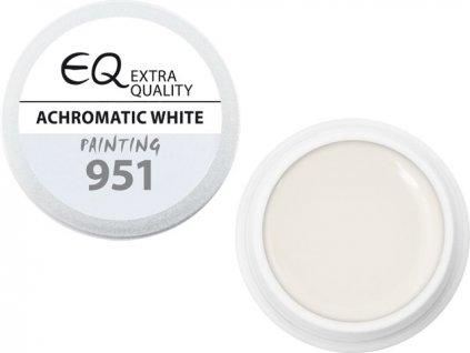EBD 951 - Extra Quality UV Painting Gel - ACHROMATIC WHITE, 5g (silver line)