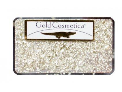Gold Cosmetica GOLD FLAKES - miếng từ 12 kar. vàng trắng dành cho Nail Art - WHITE GOLD - gói 25mg