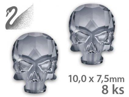 Swarovski Swarovski Overlays - Skull - Crystal Silver Night (đá mài, kích thước 10x7,5mm) gói 8c