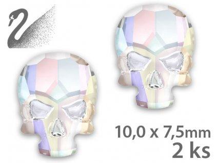 Swarovski Swarovski Overlays - Skull - Crystal Light Chrome (đá mài, kích thước 10x7,5mm) gói 2c