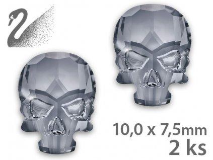 Swarovski Swarovski Overlays - Skull - Crystal Silver Night (đá mài, kích thước 10x7,5mm) gói 2c