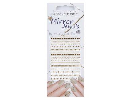 Mirror Jewels - miếng dán đính đá dành cho Nail Art - Line Gold (96892)