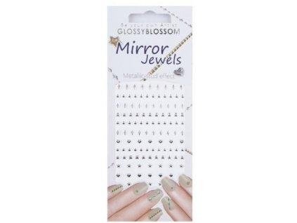 Mirror Jewels - miếng dán đính đá dành cho Nail Art - Line Silver (96893)