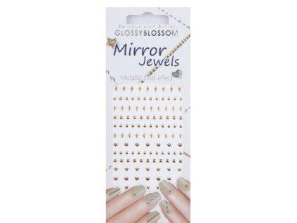 Mirror Jewels - miếng dán đính đá dành cho Nail Art - Line Gold (96894)