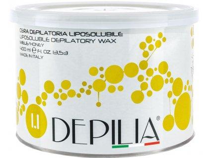Depilia Liposoluble Wax - trong hộp sắt, 400ml - mật ong