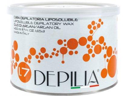 Depilia Liposoluble Wax - Depilační vosk v plechovce, 400ml - Arganový Olej