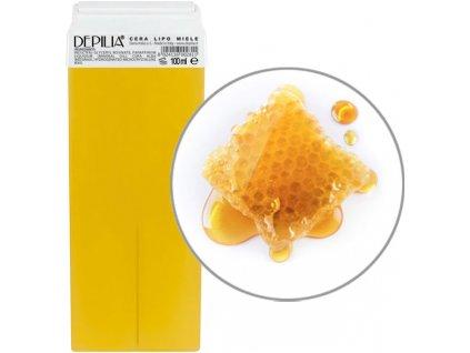 Depilia Liposoluble Wax - Depilační vosk - roll-on, velká hlava, 100ml - Med