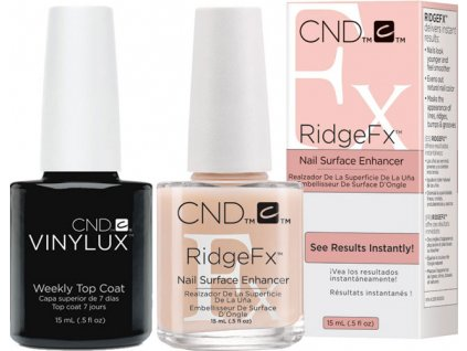 CND Bộ: RIDGEFX™ 0.5oz (15ml) + VINYLUX - WEEKLY TOP COAT (0.5oz) 15ml