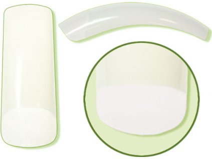 Platinum Nail tips PERFECT OVERLAP (CT-13NA) - móng tip cong, phần dán lớn - NATURAL N. 8  50c