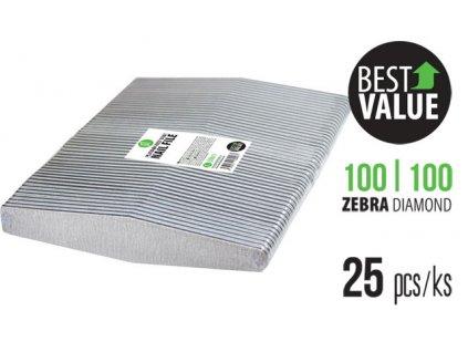 Platinum PLATINUM – BEST VALUE FILE - bộ 25c dũa ZEBRA 100/100 DIAMOND