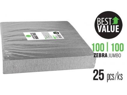 Platinum PLATINUM – BEST VALUE FILE - bộ 25c dũa ZEBRA 100/100 JUMBO