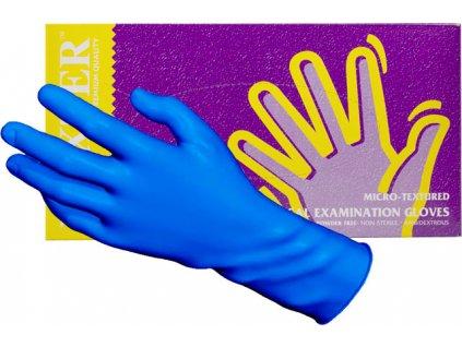 Găng tay nitrile không bột MAXTER – Premium Quality MÀU XANH NAM - kích thước L, 100c