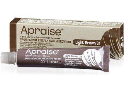 APRAISE Màu nhuộm chuyên nghiệp dành cho lông mi và lông mày - máu nâu sáng LIGHT BROWN 3.1, 20 ml (Optic Chroma Complex 8+ W