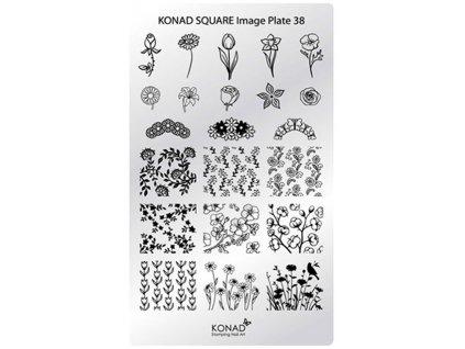 Konad Khuân mẫu in trang trí SQUARE 38