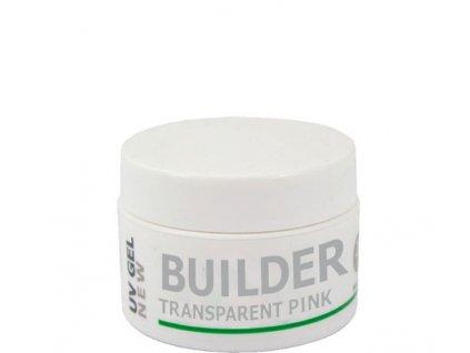 EBD NEW BUILDER - TRANSPARENT PINK - gel đắp lý tưởng, phủ hợp để bổ sung, 5g