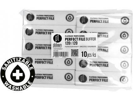 Platinum PERFECT FILE BUFFER - Bộ 10c bufer WHITE 120/120