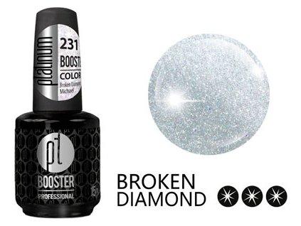 Platinum LED-tech BOOSTER COLOR Broken Diamond - Michael (231), 15ml - Sơn-gel KHÔNG MÀI