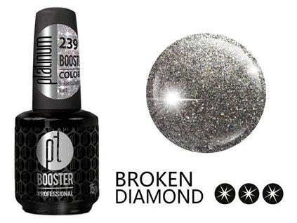 Platinum LED-tech BOOSTER COLOR Broken Diamond - Kurt (239), 15ml - Sơn-gel KHÔNG MÀI