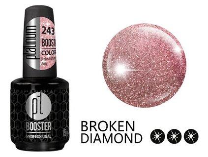 Platinum LED-tech BOOSTER COLOR Broken Diamond - Amy (243), 15ml - Sơn-gel KHÔNG MÀI