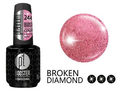 Platinum LED-tech BOOSTER COLOR Broken Diamond - Marilyn (244), 15ml - Sơn-gel KHÔNG MÀI