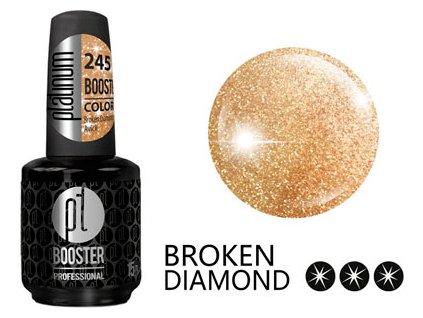Platinum LED-tech BOOSTER COLOR Broken Diamond - Avicii (245), 15ml - Sơn-gel KHÔNG MÀI