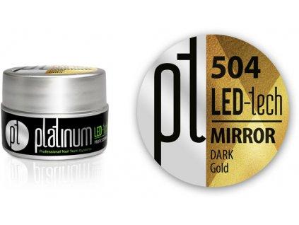 Platinum LED-tech Mirror gel - Dark Gold (504), 5g
