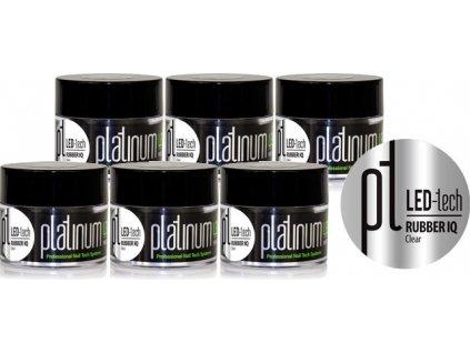 KHUYẾN MẠI PLATINUM - 6x GEL ĐẮP LED-tech RUBBER IQ Clear, 40g