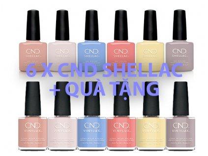 CND CND™ SHELLAC™ The Colors Of You - Bộ sưu tập mùa xuân 6c Shellac và Kèm GÓI QUÀ 6c VINYLUX™ The Colors of You