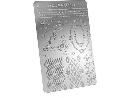CND 40™ ANNIVERSARY EDITION - YOURS Stamping Plate - bộ khuôn mẫu in trang trí (phiên bản  40. năm)