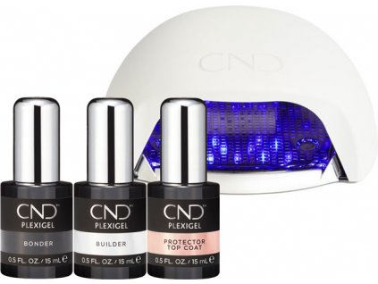 CND CND™ PLEXIGEL -  BỘ ĐẮP MÓNG 3x CND™ PLEXIGEL + CND™ ĐÉN LED