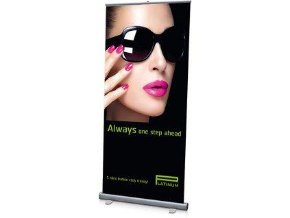 Platinum ROLL - UP banner PLATINUM - Always one step ahed 200x100cm