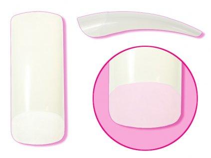 EBD Nail tips mix.1-10 50cái COSMO SQUARE (CT-05N50)- móng tip thẳng, phần dán lớn - NATURAL