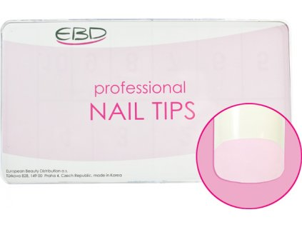 EBD Nail tips mix.1-10 BOX 500cái COSMO SQUARE (CT-05N500) - móng tip thẳng, phần dán lớn - NATURAL