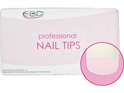 EBD Nail tips mix.1-10 BOX 500cái ROYAL OVERLAP (CT-13N500) - móng tip cong, phần dán lớn  - NATURAL