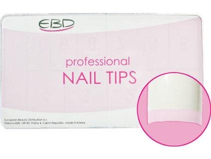 EBD Nail tips mix.1-10 BOX 500cái ROYAL FRENCH (CT - 11W500)- móng tip cong, phần dán ngắn - MÀU TRẮNG LÀM MÓNG KIỂU PHÁP