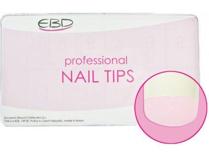 EBD Nail tips mix 500cái ROYAL DIANA(CT-09NA500)-thẳng hơi thon với dán lớn-NATURAL