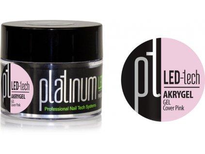 Platinum PLATINUM LED-tech AKRYGEL GEL Cover Pink, 40g - gel đắp ngụy trang (30 giây LED/120 giây UV)