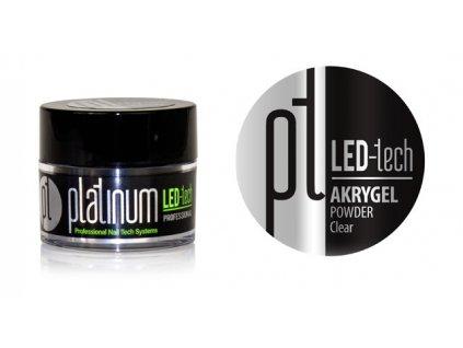 Platinum PLATINUM LED-tech AKRYGEL POWDER Clear, 9g - Bột phấn trong dùng phối hợp với gel acrylic
