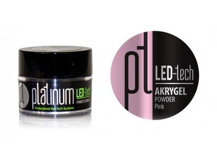 Platinum PLATINUM LED-tech AKRYGEL POWDER Pink, 9g - Bột phấn hồng dùng phối hợp với gel acrylic