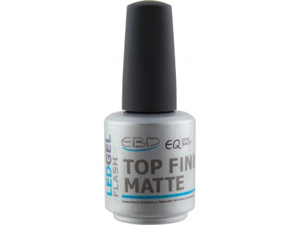 EBD Extra Quality LED FLASH Gel - Top Finish Matte, 15 ml (silver line)