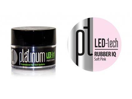 Platinum PLATINUM LED-tech RUBBER IQ Soft Pink, 9g - Gel đắp  rất đàn hồi màu hồng nhạt (30sec LED/120