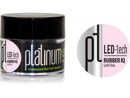 Platinum PLATINUM LED-tech RUBBER IQ Soft Pink, 40g - Gel đắp  rất đàn hồi màu hồng nhạt (30sec LED/12