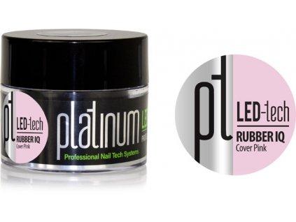 Platinum PLATINUM LED-tech RUBBER IQ Cover Pink, 40g - Gel đắp ngụy trang rất đàn hồ (30 giây LED/120 gi